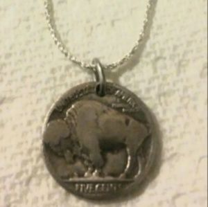 Jewelry - Indian head coin on sterling silver chain